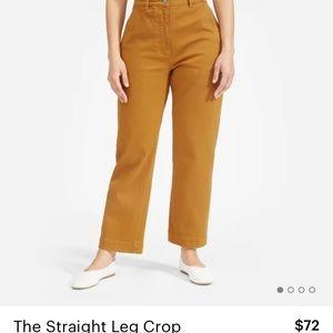 Everlane straight leg crop size 4 TALL !!